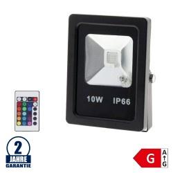 10W LED Fluter RGB Dimmbar und Ferngesteuert