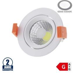 8W LED COB Einbauleuchte Rund Schwenkbar Kaltweiß