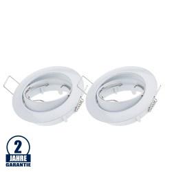 Einbaurahmen für LED MR16/GU10 Rund Schwenkbar Weiß 2er Packung