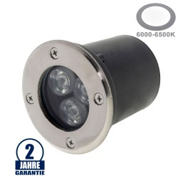 3W LED Bodenleuchte für Außenmontage 230V IP65 Kaltweiß