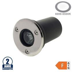 1W LED Bodenleuchte für Außenmontage 230V IP65 Kaltweiß