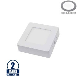 7W LED Aufbau Mini Panel Quadratisch Kaltweiß