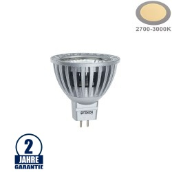 6W LED COB GU5.3/MR16 Spot Warmweiß