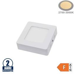 6W LED Aufbau Mini Panel Quadratisch Warmweiß