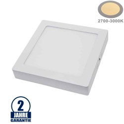 18W LED Aufbau Mini Panel Quadratisch Warmweiß