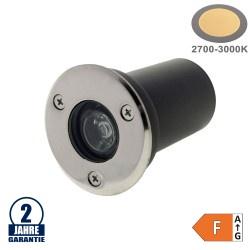 1W LED Bodenleuchte für Außenmontage 230V IP65 Warmweiß