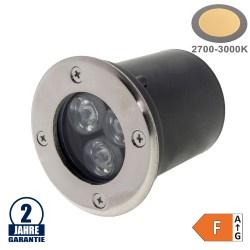 3W LED Bodenleuchte für Außenmontage 230V IP65 Warmweiß