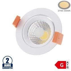 8W LED COB Einbauleuchte Rund Schwenkbar Warmweiß