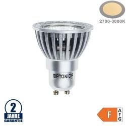 4W LED COB GU10 Spot Warmweiß