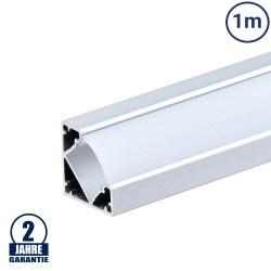 LED Profil 45° eloxiert 1m SET