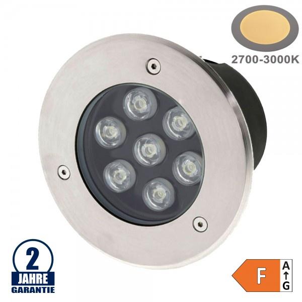 7W LED Bodenleuchte für Außenmontage 230V IP65 Warmweiß
