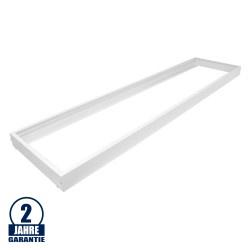 LED Panel Rahmen 1200 x 300 mm Aluminium Weiß