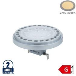15W LED AR111/G53 12V AC/DC 30° Warmweiß