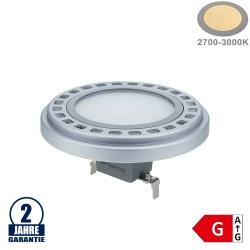 15W LED AR111/G53 12V AC/DC 120° Warmweiß