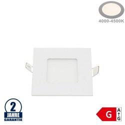 3W LED Mini Panel Quadratisch Neutralweiß