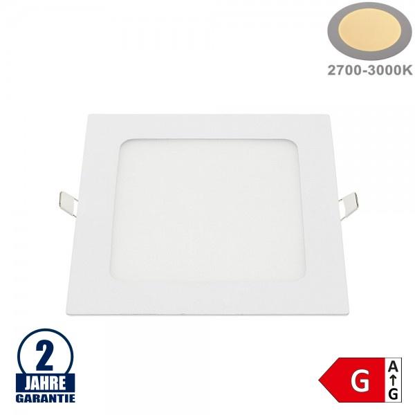 12W LED Mini Panel Quadratisch Warmweiß