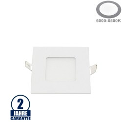 3W LED Mini Panel Quadratisch Kaltweiß
