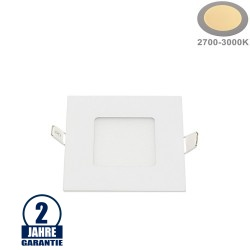 3W LED Mini Panel Quadratisch Warmweiß