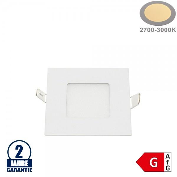 3W LED Mini Panel Quadratisch Warmweiß