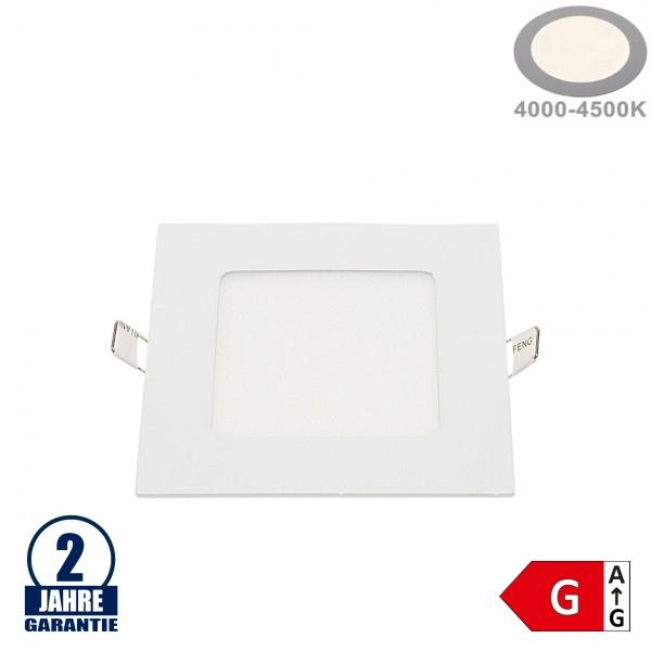 6W LED Mini Panel Quadratisch Neutralweiß
