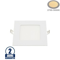 6W LED Mini Panel Quadratisch Warmweiß
