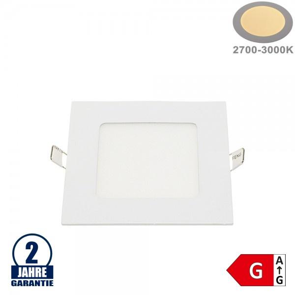 6W LED Mini Panel Quadratisch Warmweiß