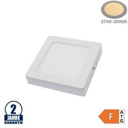 12W LED Aufbau Mini Panel Quadratisch Warmweiß