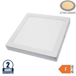 24W LED Aufbau Mini Panel Quadratisch Warmweiß
