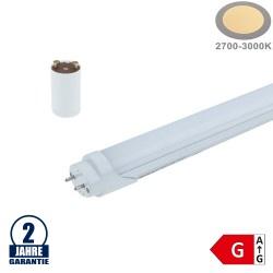 18W LED G13/T8 Kunststoff/Aluminium Röhre 120cm Warmweiß mit Starter