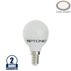 4W LED E14 G45 Birne Kunststoff Neutralweiß
