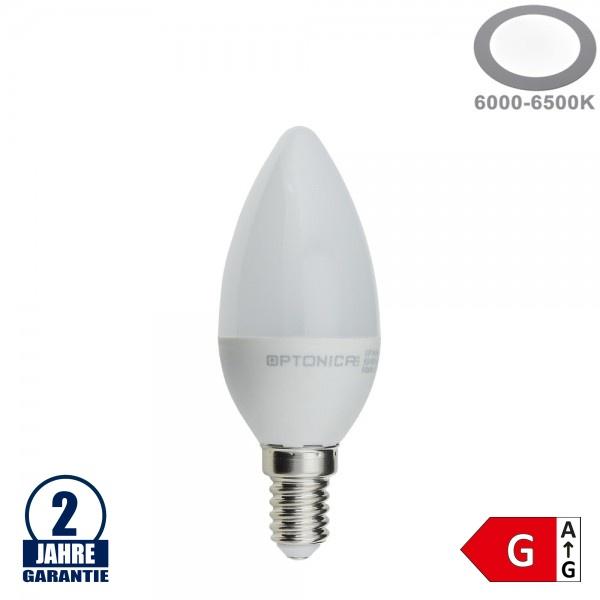 6W LED E14 Kerze Kunststoff Kaltweiß
