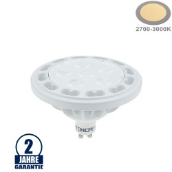 12W LED GU10/AR111 Spot 36° Warmweiß