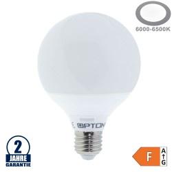 12W LED E27 G95 Globe Kunststoff Kaltweiß