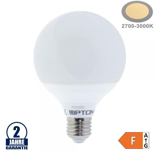 15W LED E27 G95 Globe Kunststoff Warmweiß