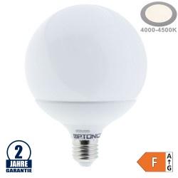 15W LED E27 G120 Globe Kunststoff Neutralweiß