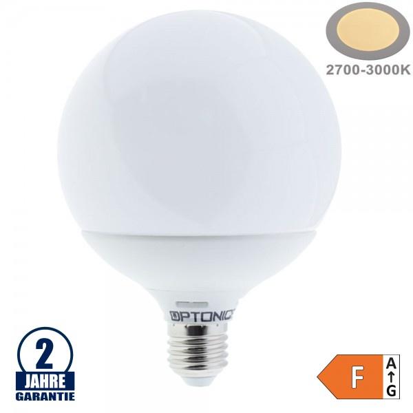 15W LED E27 G120 Globe Kunststoff Warmweiß