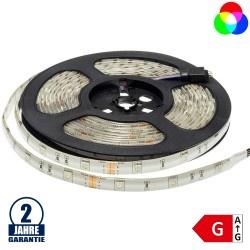 30SMD/m 7,2W/m 12V LED Streifen 5050 RGB Spritzwassergeschützt 5m Rolle