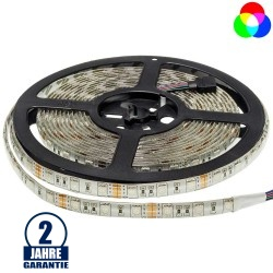 60SMD/m 14,4W/m 12V LED Streifen 5050 RGB Spritzwassergeschützt 5m Rolle