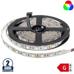 60SMD/m 14,4W/m 12V LED Streifen 5050 RGB 5m Rolle