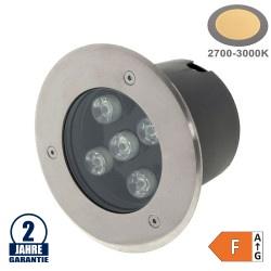 5W LED Bodenleuchte für Außenmontage 230V IP65 Warmweiß