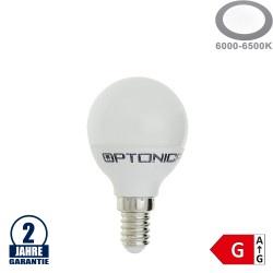 6W LED E14 G45 Birne Kunststoff Kaltweiß