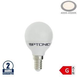 6W LED E14 G45 Birne Kunststoff Neutralweiß