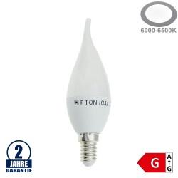 6W LED E14 Windstoßkerze Kunstoff Kaltweiß