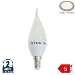 6W LED E14 Windstoßkerze Kunststoff Neutralweiß