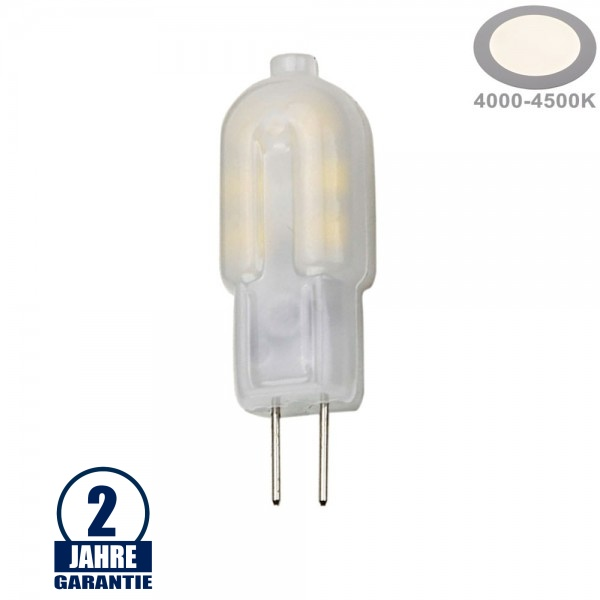 2W LED G4 12V AC/DC Matt Neutralweiß