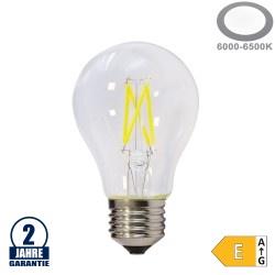 5W LED FILAMENT E27 A60 Birne Glas 600 Lumen Kaltweiß