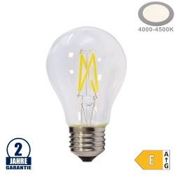 5W LED FILAMENT E27 A60 Birne Glas 600 Lumen Neutralweiß