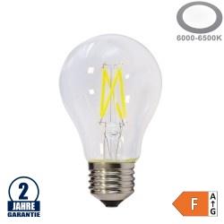 4W LED FILAMENT E27 A60 Birne Glas 400 Lumen Kaltweiß