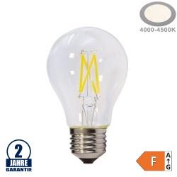 4W LED FILAMENT E27 A60 Birne Glas 400 Lumen Neutralweiß