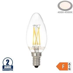 4W LED FILAMENT E14 C35 Kerze Glas 400 Lumen Neutralweiß